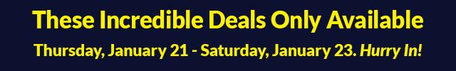 3 Day Sale - January 21 - January 23
