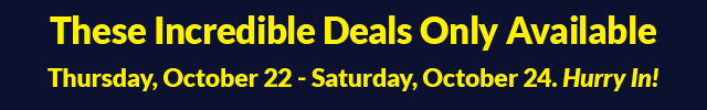 3 Day Sale - October 22 - October 24