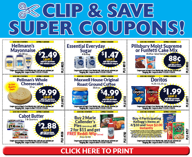 Clip and Save Super Coupons