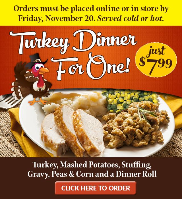 Turkey Dinner For One