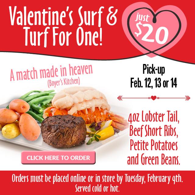 Valentines Dinner For One