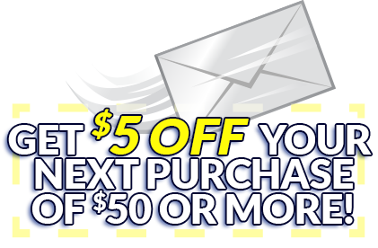 Join our mailing list and get a $5 OFF COUPON!