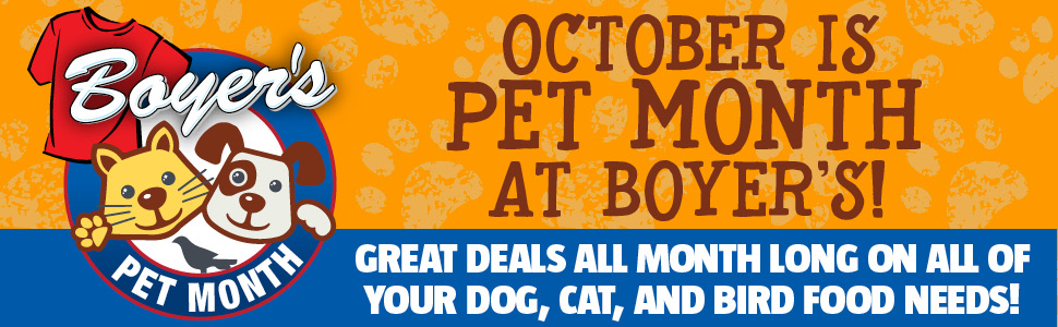 October Is Pet Month