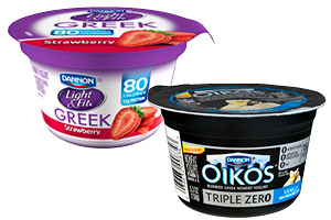 Dannon Light & Fit Greek Zero or Oikos Yogurt