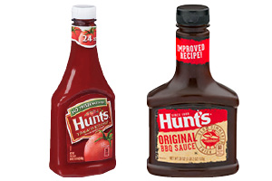 Hunt's 24 oz Ketchup or 18 oz Original BBQ Sauce