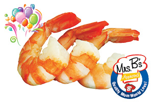 Mrs. B's Approved 26-30 ct Cooked, Peeled & Deveined Shrimp