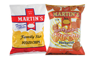 Martin's Regular or Crunchy Ridged Potato Chips